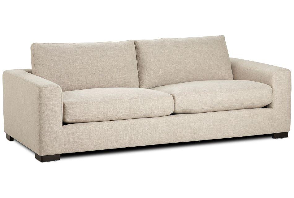 "Bohan 89"" Pewter Fabric Sofa"