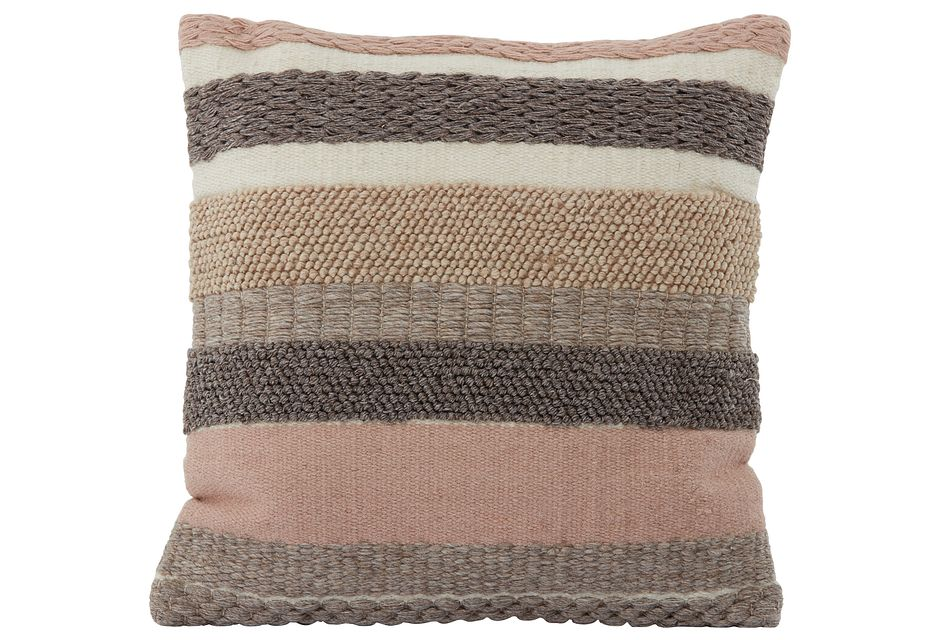"Dasia Light Pink  22"" Accent Pillow"
