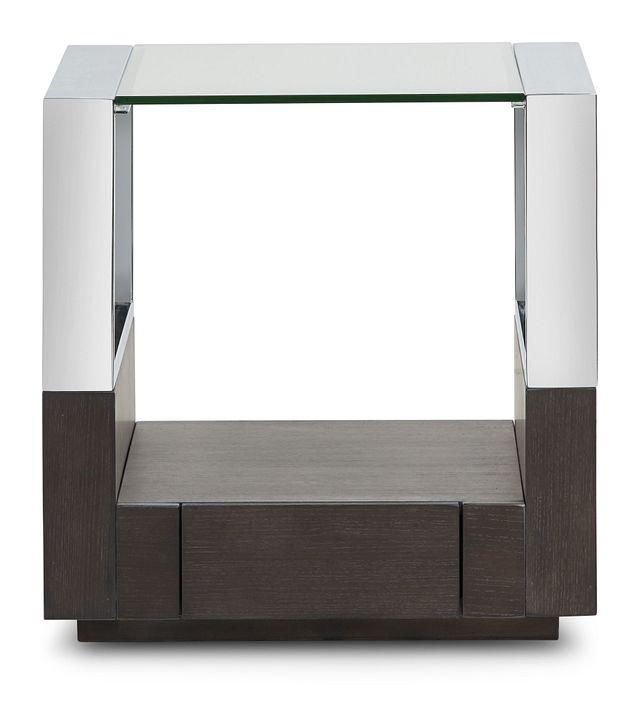 Remus Dark Tone Square End Table (0)