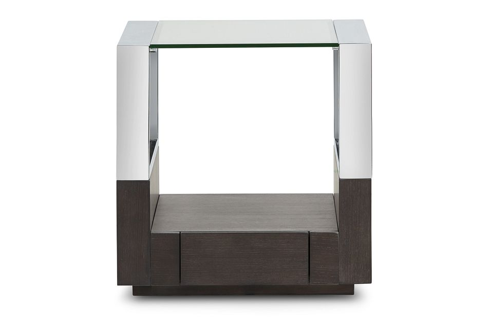 Remus Dark Tone Square End Table