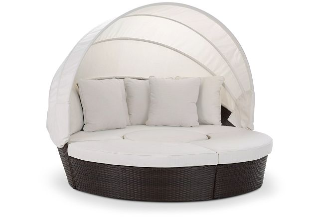 Fina White Canopy Daybed