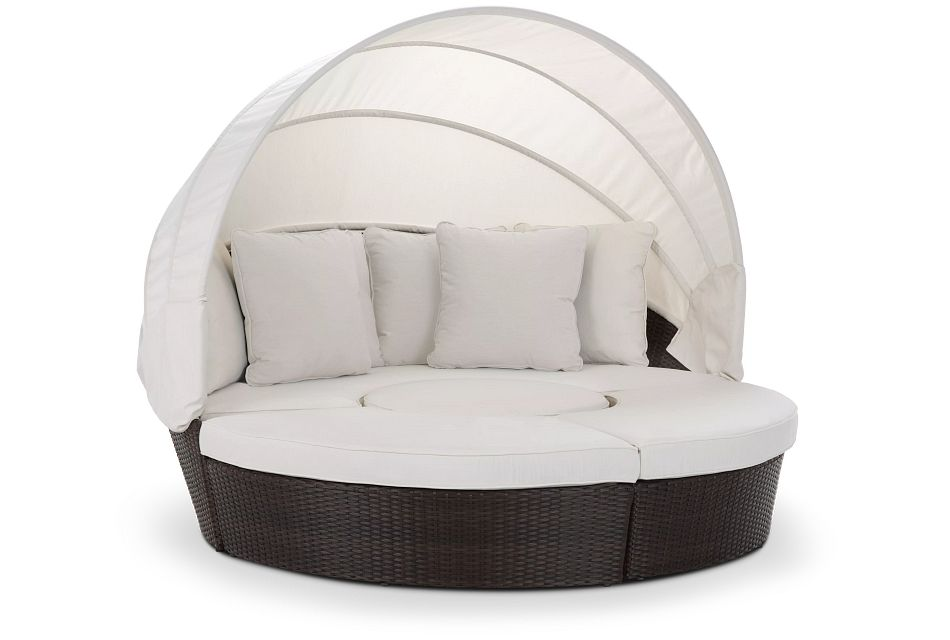 Fina White Canopy Daybed,  (1)