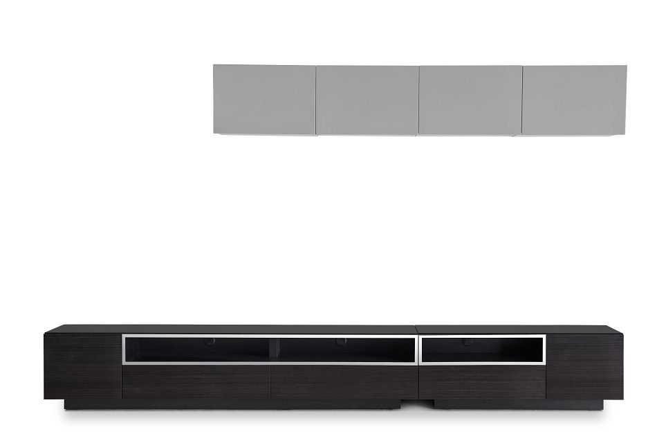 "Vancouver 134"" Dark Tone Gray 6-piece Right Modular Entertainment Wall"