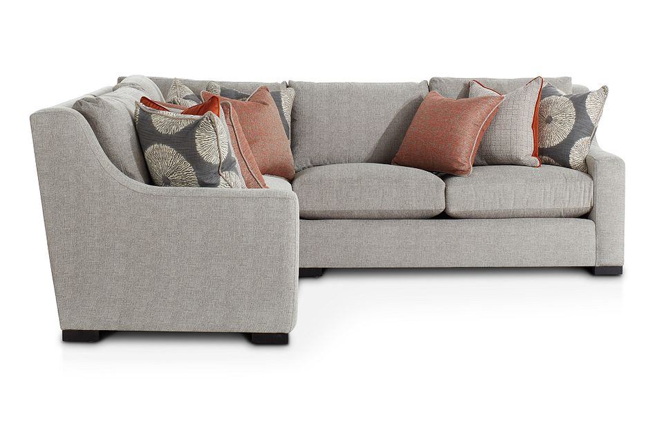 Germaine Gray Fabric Small Two-arm Sectional