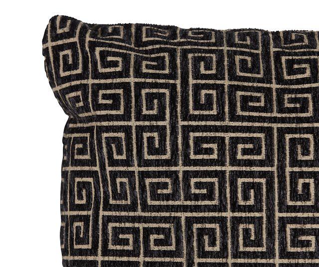 "Keys Black 18"" Square Accent Pillow (1)"