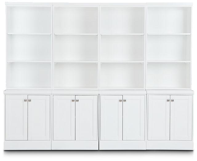 Newport White Door Bookcase Wall (1)