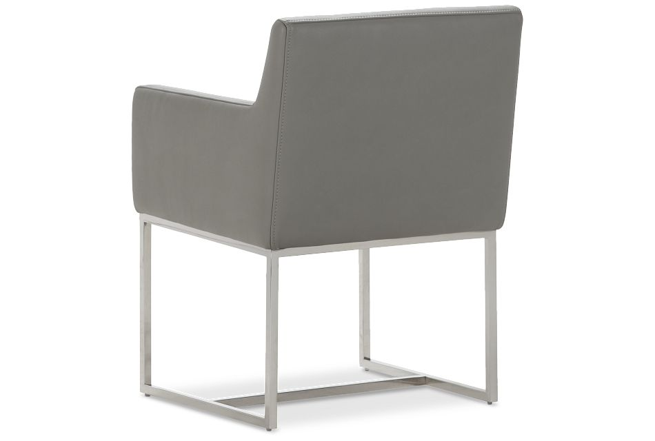 Miami Gray Micro Upholstered Arm Chair