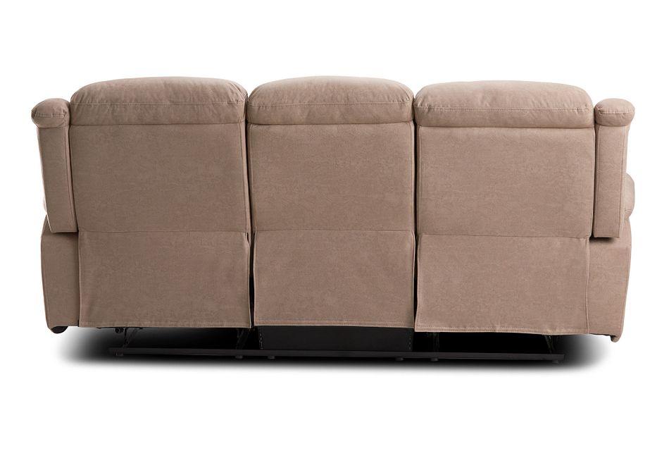 Calvin Taupe Micro Reclining Sofa