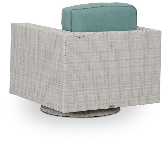 Biscayne Teal Swivel Chair (3)
