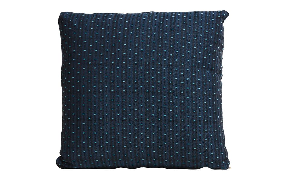 "Front Yard Dark Blue 18"" Indoor/outdoor Accent Pillow"