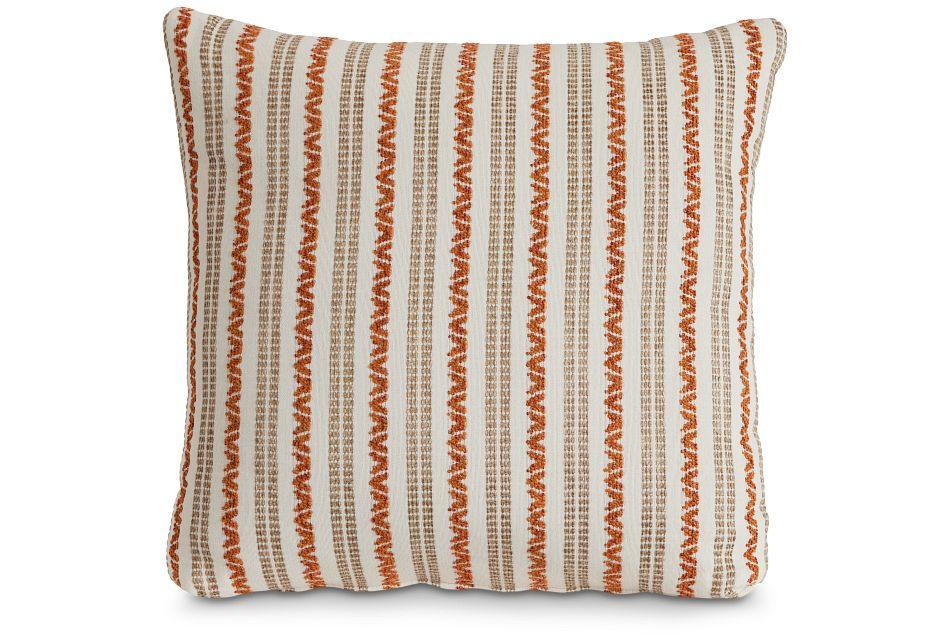 "Budreau Orange Fabric 20"" Accent Pillow,  (1)"