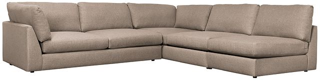 Harper Dark Taupe Fabric Large Left Arm Sectional (0)