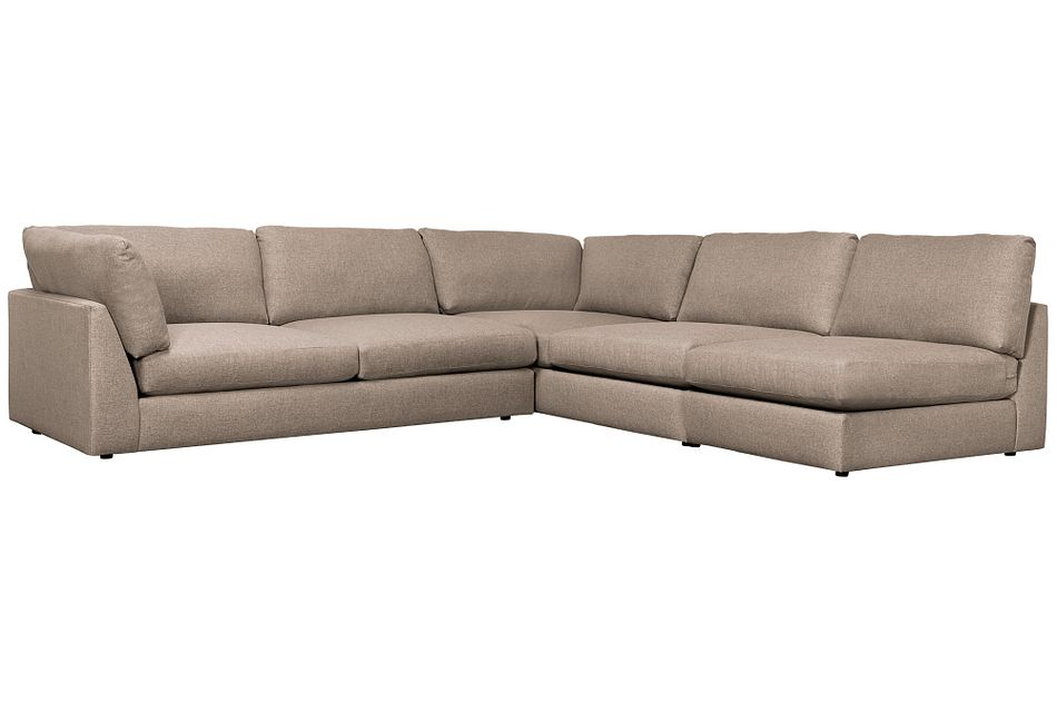 Harper Dark Taupe Fabric Large Left Arm Sectional