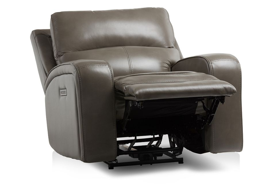 Declan Dark Gray Lthr/vinyl Power Recliner