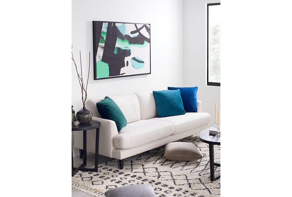 Fremont Light Beige Fabric Sofa