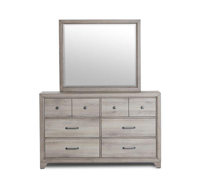 Rivercreek Gray Wood Dresser & Mirror (1)