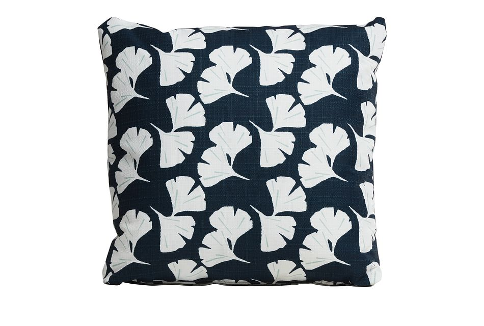 """Gingko Blue 18"""" Indoor/outdoor Accent Pillow"""
