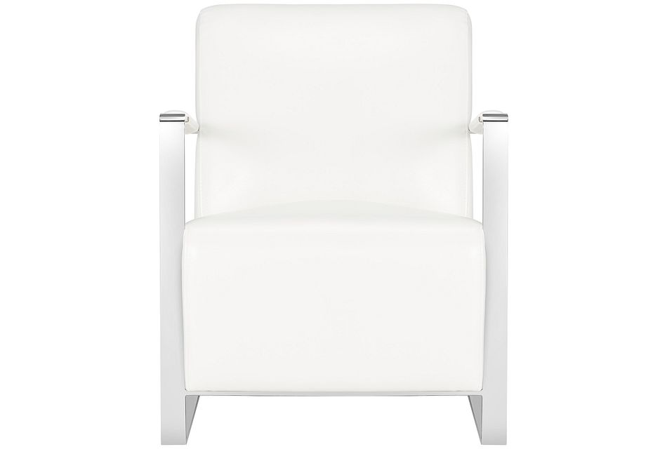 Lee White Uph Accent Chair