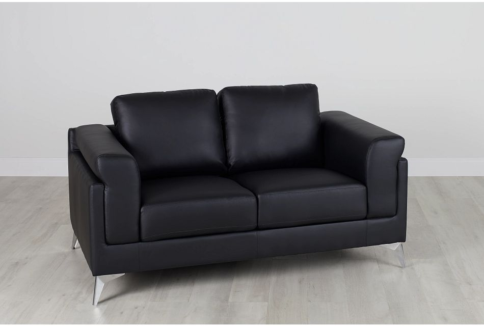 Gianna Black Micro Loveseat, %%bed_Size%% (0)