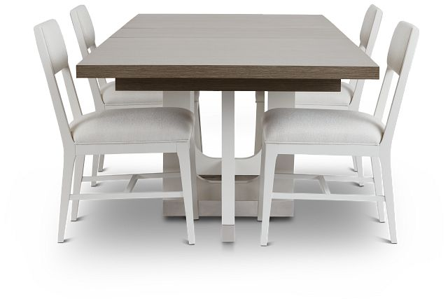 Marley Light Tone Rect Table & 4 Chairs (3)