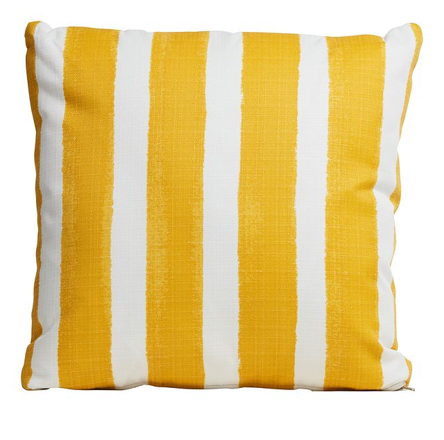 """Nico Yellow 20"""" Indoor/outdoor Accent Pillow (0)"""