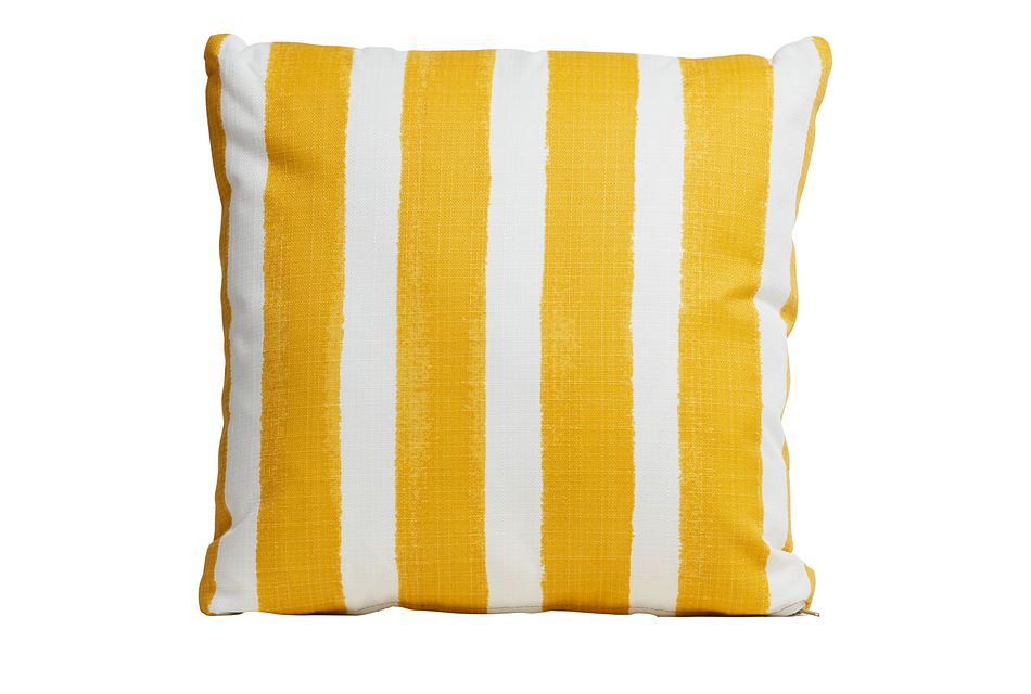 """Nico Yellow 20"""" Indoor/outdoor Accent Pillow"""