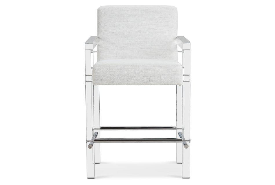 """Ocean Drive Whiteacrylic 24"""" Upholstered Barstool"""