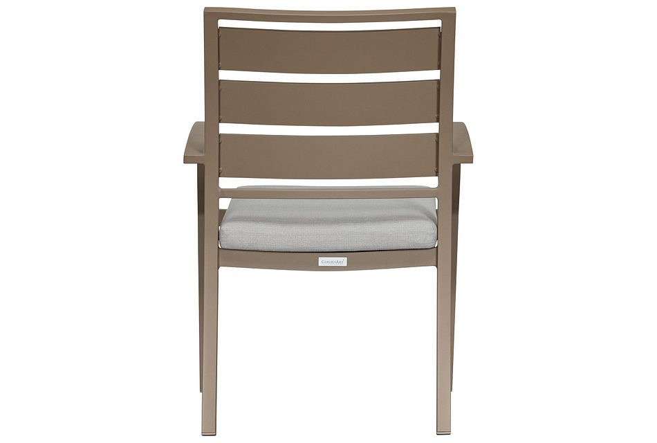 Raleigh Gray Aluminum Arm Chair