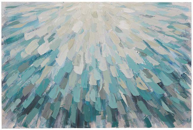 Rainfa Light Blue Canvas Wall Art