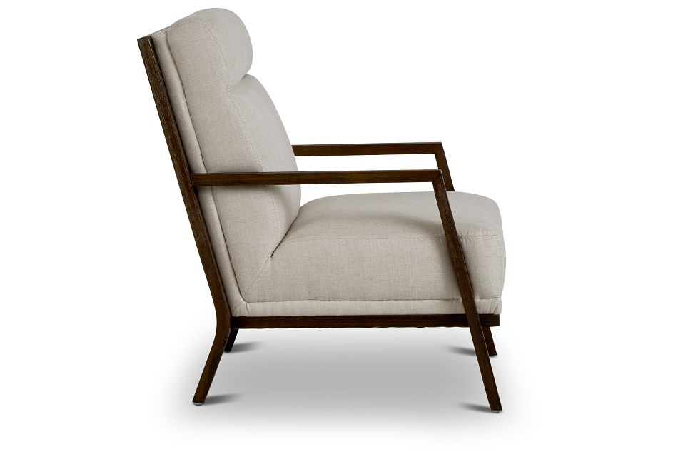 Brando Beige Fabric Accent Chair,  (2)