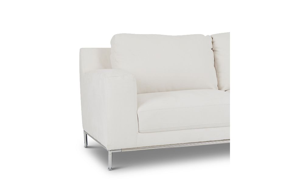 Wynn White Micro Right Chaise Sectional,  (3)