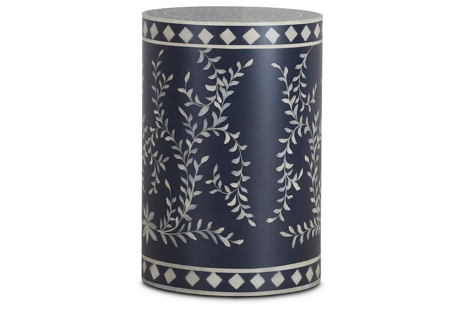 Royal Dark Blue Round Accent Table