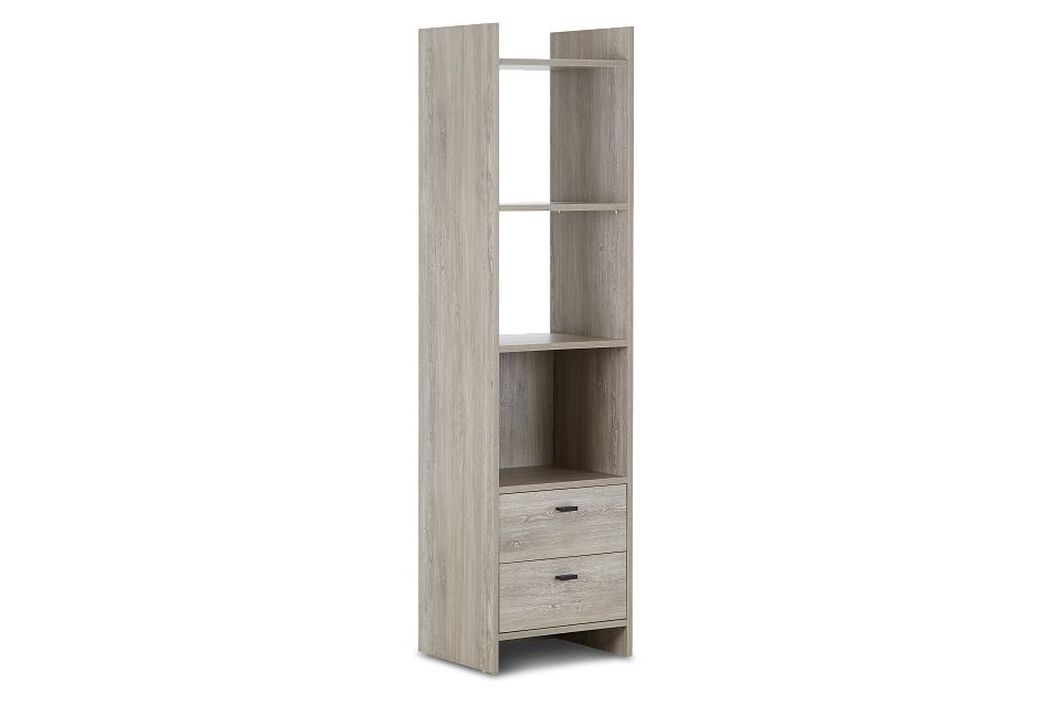 Delray Light Tone Open Bookcase, %%bed_Size%% (2)