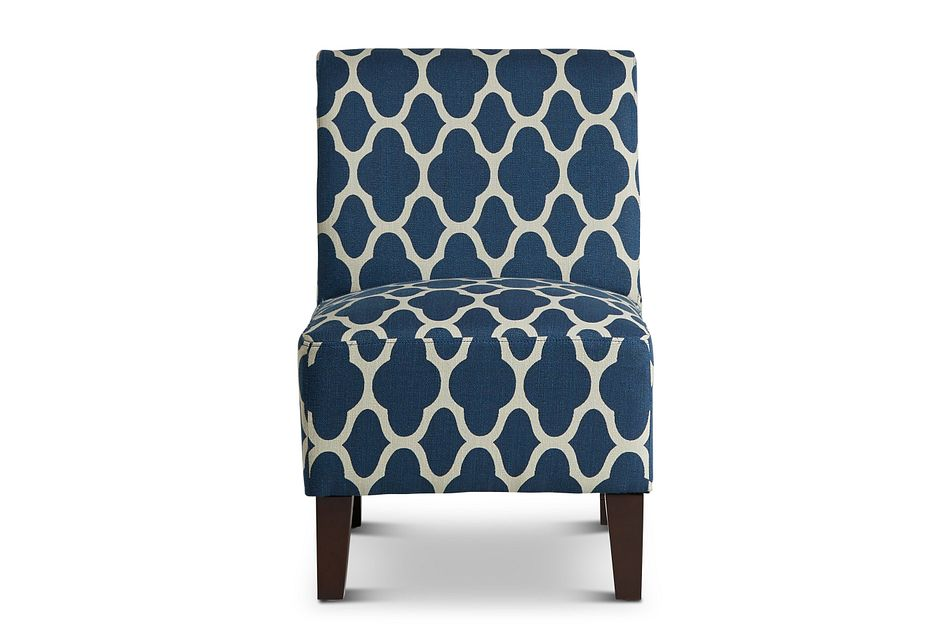 Comet Dark Blue Fabric Accent Chair