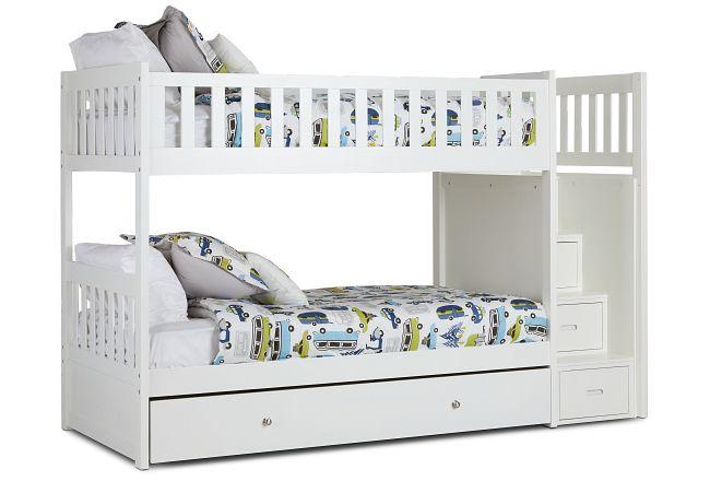 Bailey White Storage Bunk Bed