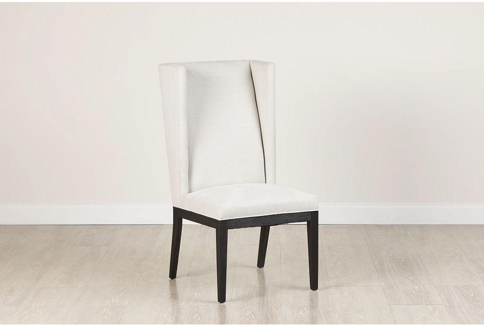 Buckner White Large Wing Chair