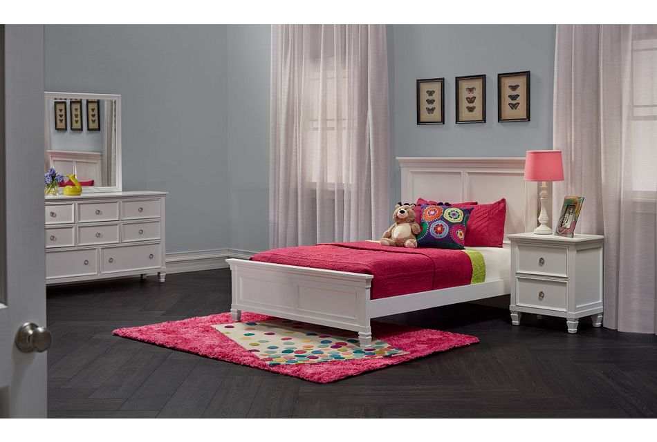 Tamara White Panel Bed