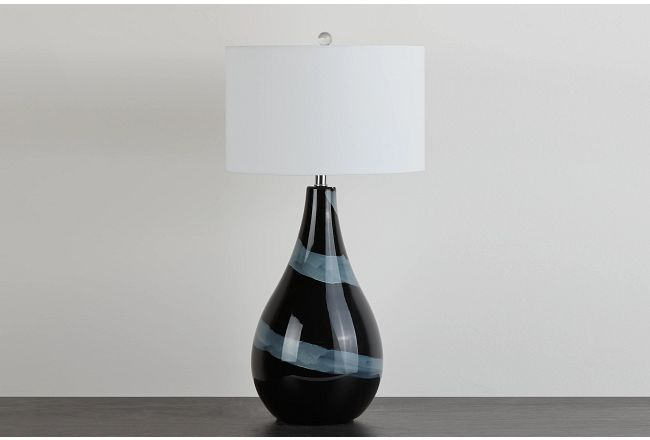 Zilya Black Table Lamp