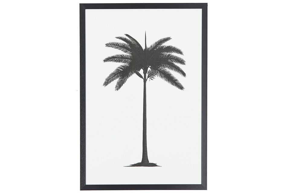 Palm Tree Black  Framed Wall Art,  (0)