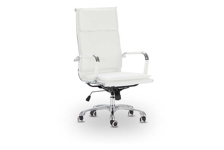 Arvada White Uph Desk Chair, %%bed_Size%% (1)