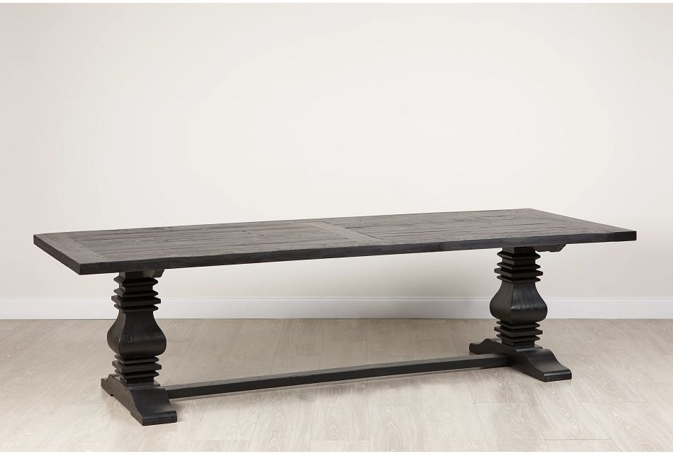 "Hadlow Black 110"" Rectangular Table"