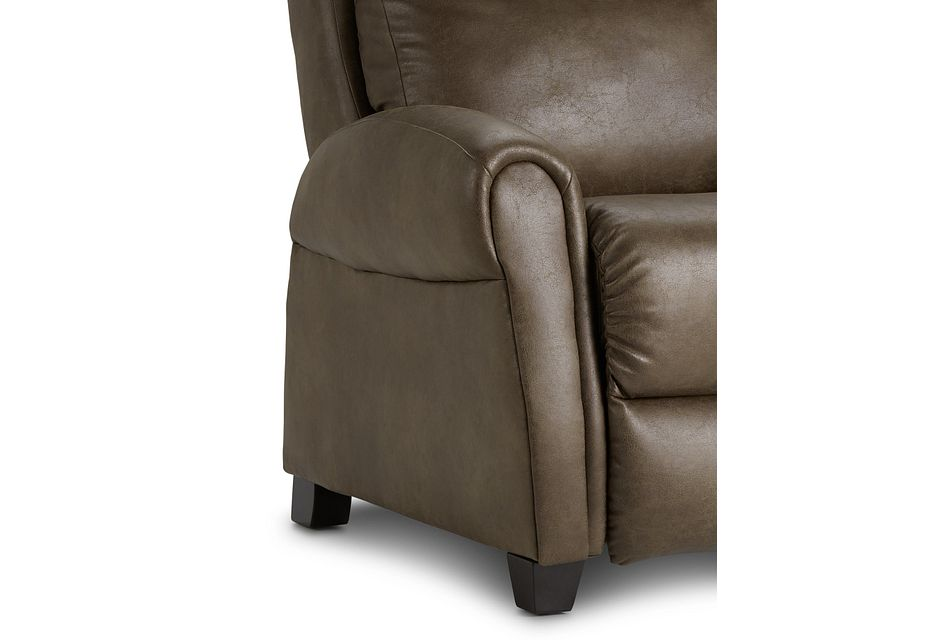 Wilson Dark Brown Micro Zero Gravity Power Recliner W/heat & Massage