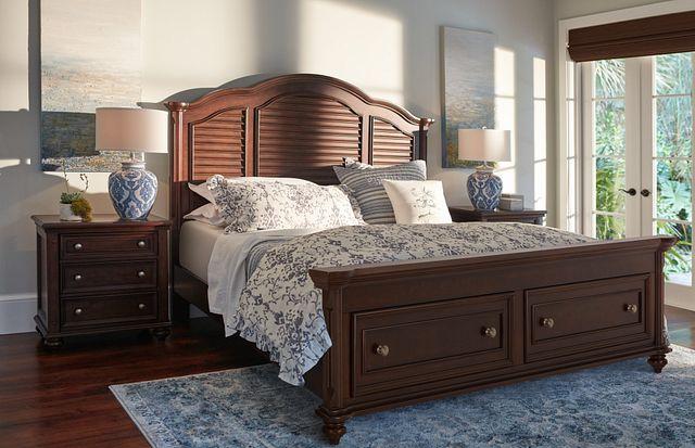 Savannah Dark Tone Mansion Storage Bed