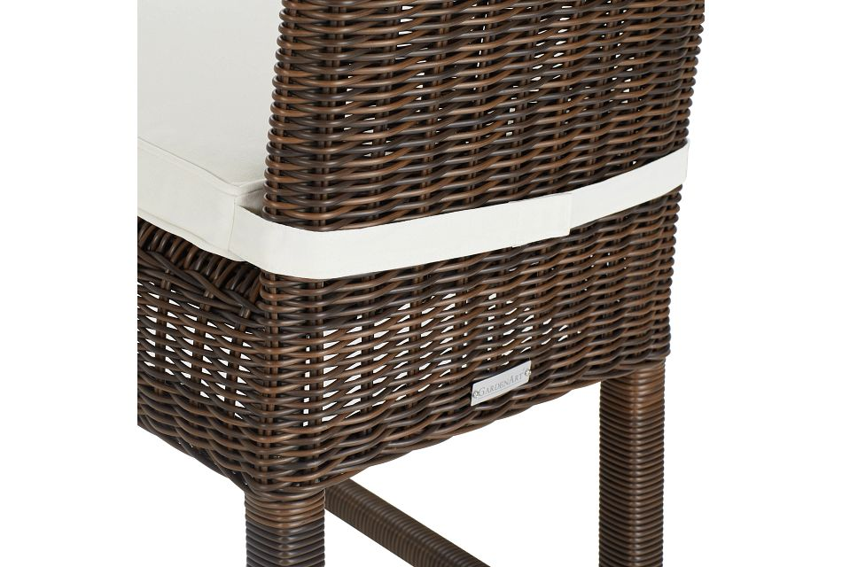 "Canyon Dark Brown White Woven 30"" Barstool"