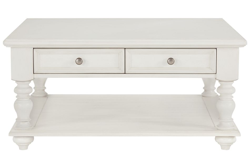Savannah Ivory Storage Square Coffee Table