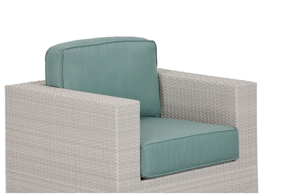 Biscayne Teal Swivel Chair