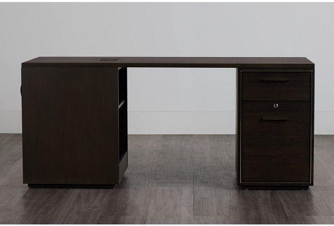 Highline Dark Tone Peninsula Desk