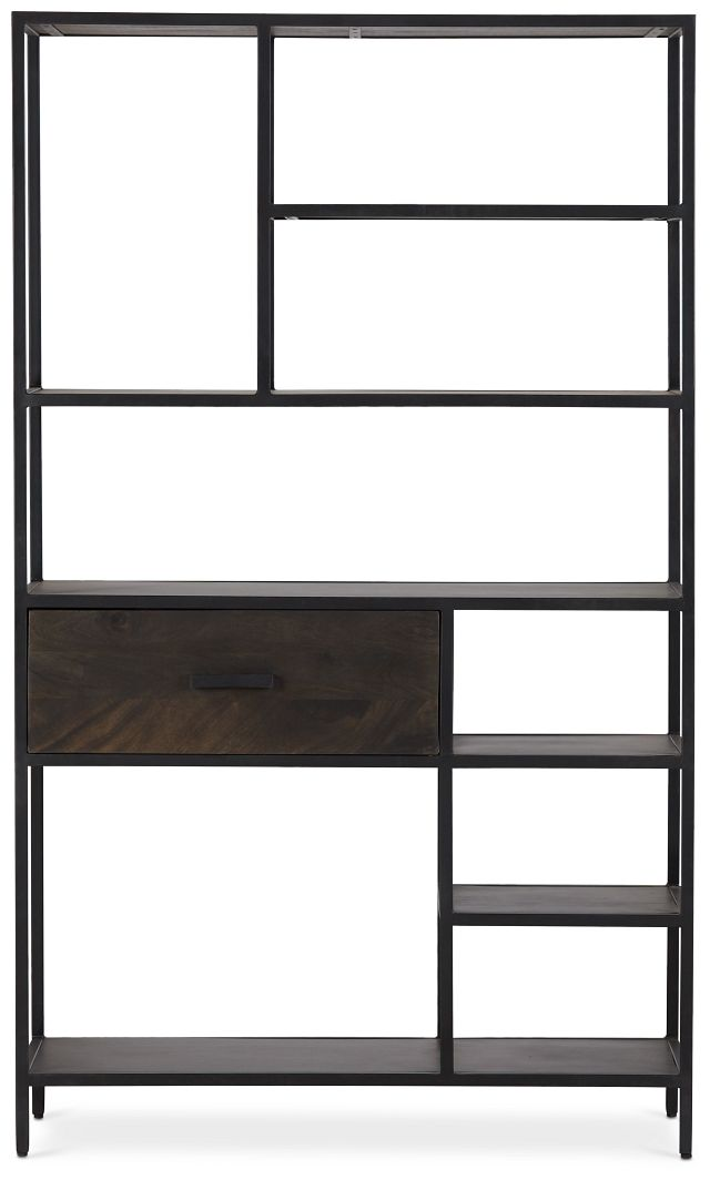 Cleo 1-drawer Metal Bookcase (1)