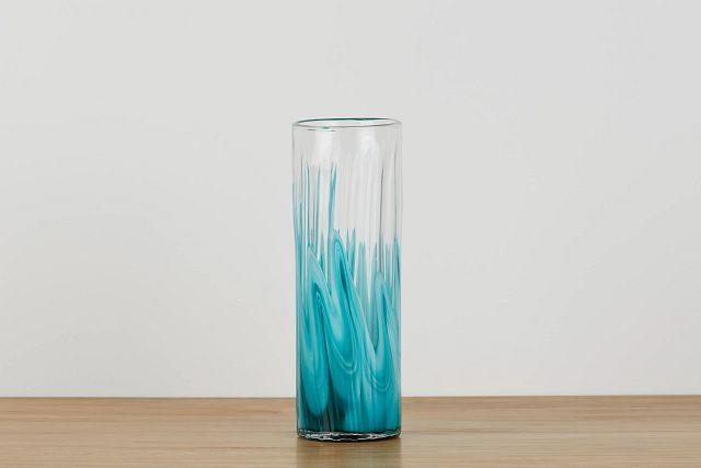 Lia Teal Tall Vase (0)