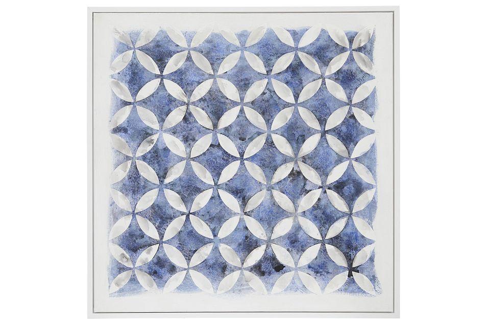 Kai Dark Blue Framed Wall Art